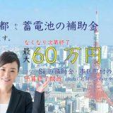 東京都から蓄電池の補助金もらえます。