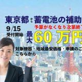 東京都の蓄電池補助金 自家消費プラン事業